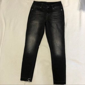 Maurices Black Distressed Skinny Jeans